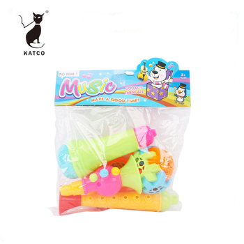 High Quality Safety Plastic Music Instrument Toy Baby Hand Rattle Toy Set For Promotion