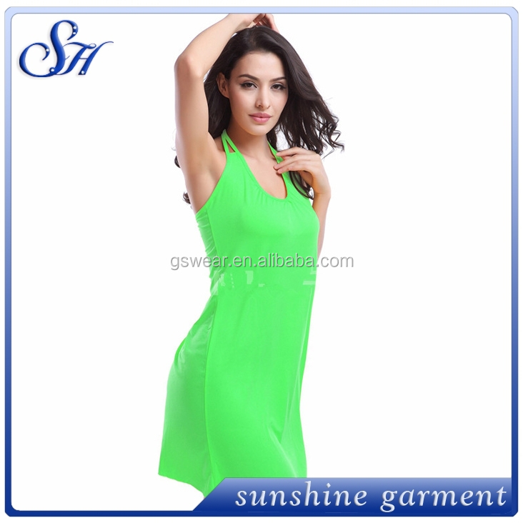 2015 Summer Women Bathing Suit Cover Up Dress Sexy Lace Crochet Beach Dress