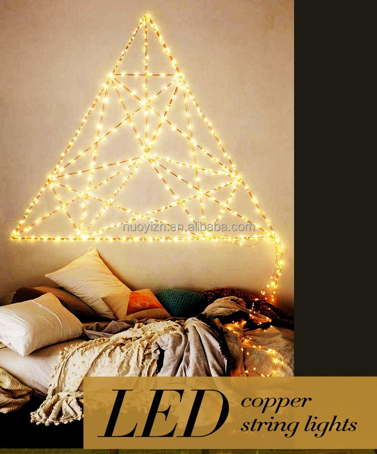 Wholesale waterproof mini 10 M 100leds decorative indoor christmas led coper wire string lights