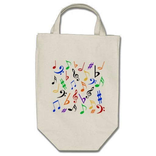Musical Notes Tote Bag - Multi style shopping bags