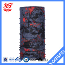 Most salable skull pattern Multi purpose Multifunctional polyester bandana tube