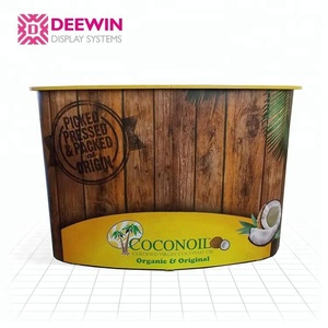 New arrival promotional pop up counter trade show podium portable laminated pop up counter display store display rack