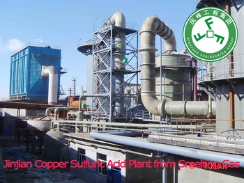Sulfuric Acid Plant based on off Gas recovery from Cu melting