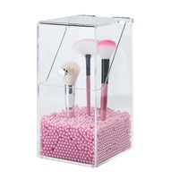 Makeup Brush Holder makeup brush holder Dustproof Acrylic Storage Box Premium Quality 5mm Thick Home Acrylic Makeup Organizer