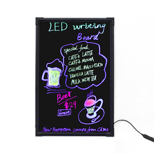 Alibaba hot sale high quality acrylic or Tempered glass LED writing board.