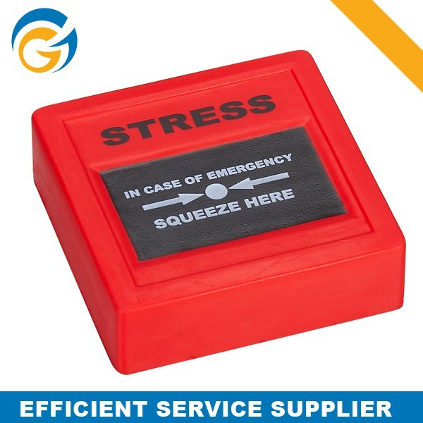 2014 OEM Logo Printed Emergency Button PU Stress Toy