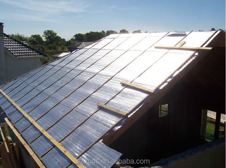 bubble foil heat insulated material for warehouse roof to keep cool in summer and warm in winter