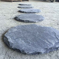 Black slate slungshot for garden
