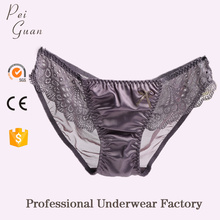 guangzhou factory customized best quality soft hot sexy girls satin panties women underwear panties for ladies