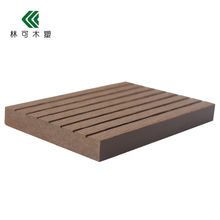 Factory price water&fire resistant solid wood plastic composite WPC decking