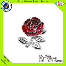 Epoxy flower shaped hign quality lapel pin badge promotion