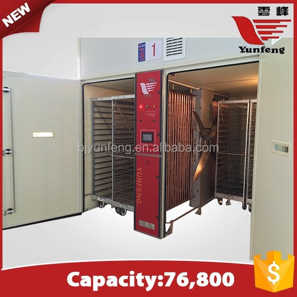 YFDF-76800 eggs large single-stage industrial chicken incubators for sale
