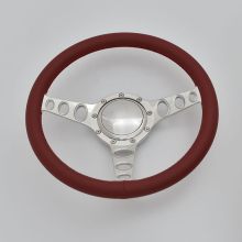 380mm Full Wrap aluminum Bus Steering Wheel wtih Horn Button for muscle car Chevrolet