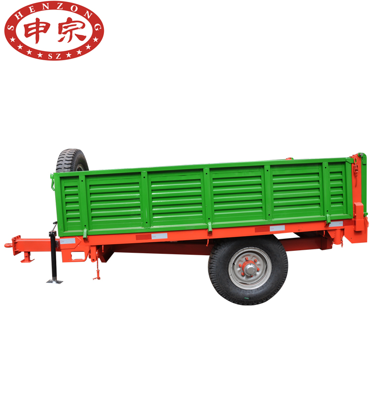 china factory producing 3 tons single <strong>axle</strong> <strong>rear</strong> dump farm trailer