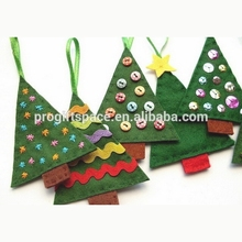 Hot new products alibaba china fabric native top sale felt diy green pine tree hanging best selling Hot Toys for Christmas