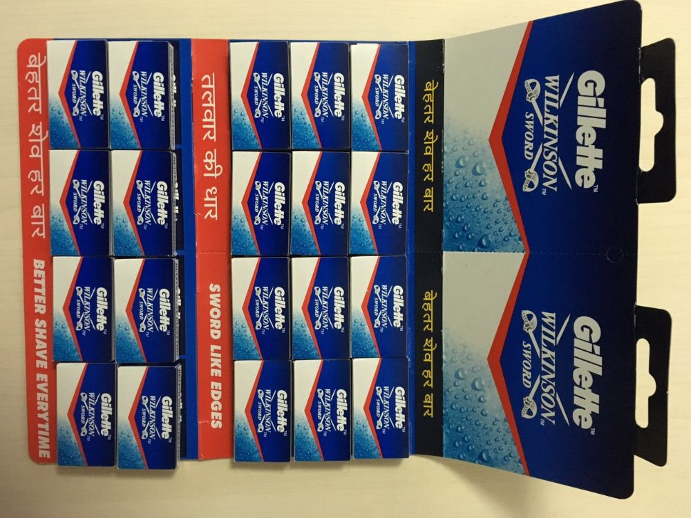 factory OEM wholesale platinum double edge razor blade, traditional razor blades package design for supermarket display cards