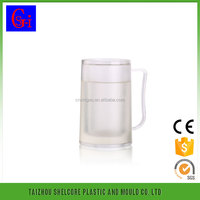Hot selling beer mug Frosted cup Ice cup maker, Plastic double wall freezer beer mug