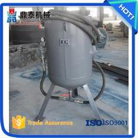 Oil field pipe rust removing used sand blasting machine,Pot type derusting cleaning peening equipment