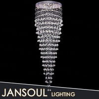 contemporary crystal chandelier long crystal chain lighting fixture led ceiling lamp