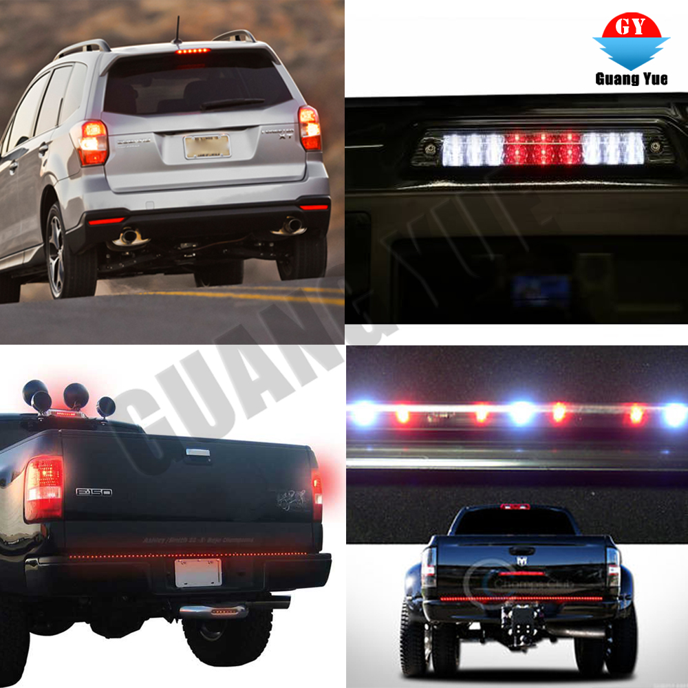 CAR TRUCK RED LED REFLECTORS ROUND BRAKE LIGHT BRAKE LAMP