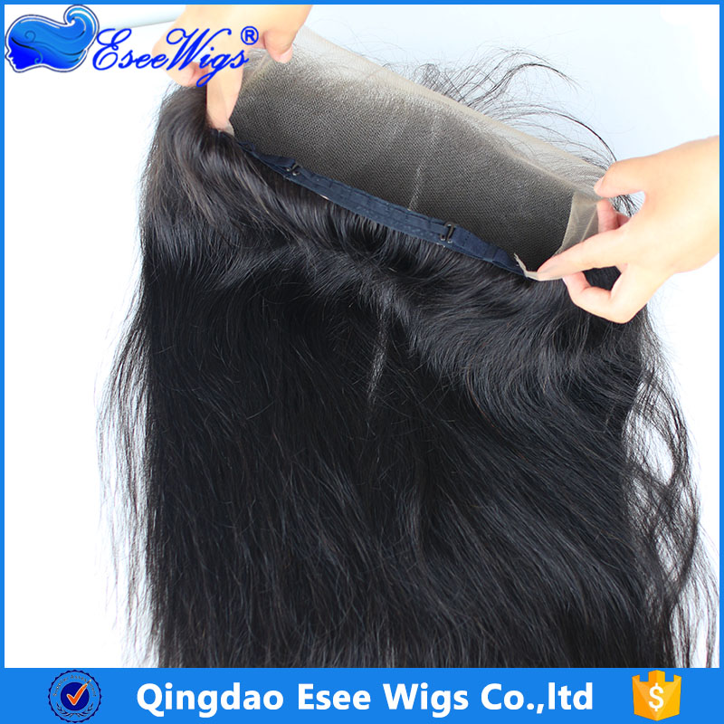 Wholesale 13X4 lace frontal 360 lace band with adjust strap 360 lace frontal