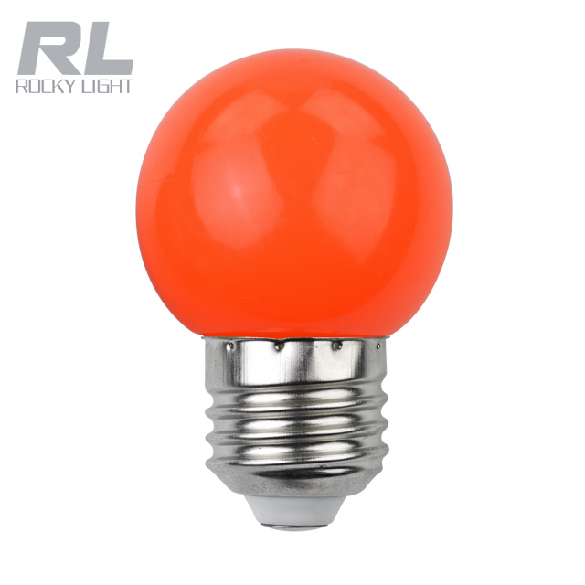 Led G45 color light bulb 1w E27 B22 PC cover residential decorative christmas color light lamp