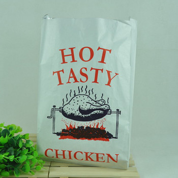 private label BBQ Kebab hot dog chicken aluminum foil lined paper bag for hot food