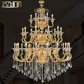 The new European-style zinc alloy LED candle chandelier glass chandelier bedroom lamp restaurant lighting D66017