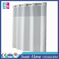 sweethome hookless polyester shower curtain for home decoration