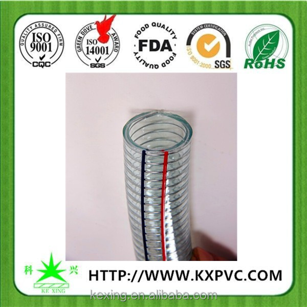 Spiral steel wire hose / Flexible Plastic tubes / clear PVC reinforced hose