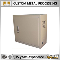 China suppliers chocolate powder coating mailbox lockable sheet metal fabrication