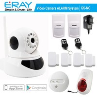 P2P WIFI View Indoor wireless Mini camera support APP+Fire Alarm+Motion Detector+outdoor siren