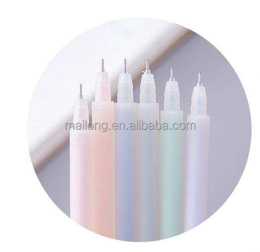South Korea stationery Muji simplicity wind grind arenaceous transparent watercolors neutral 0.5 mm hand pen PN3499