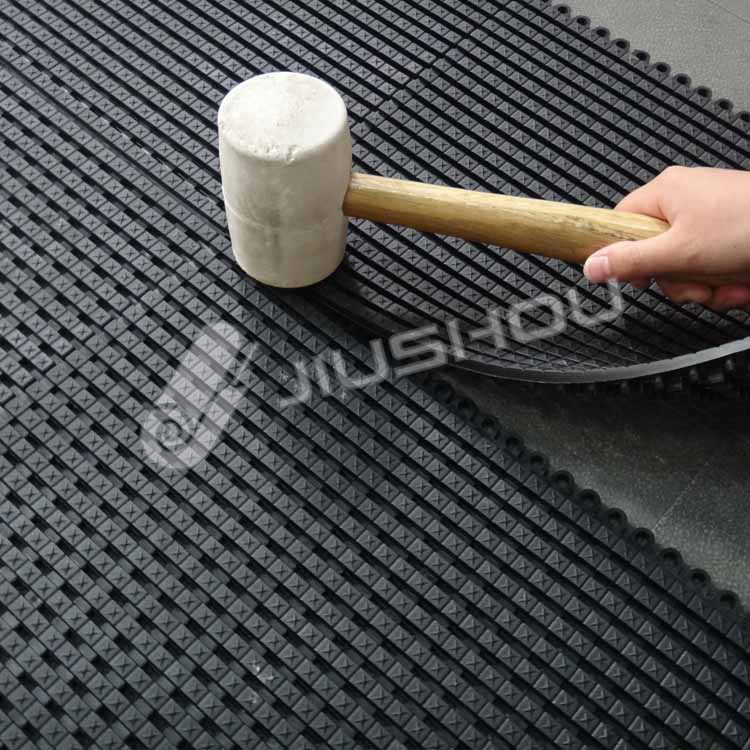 Flexible PVC tile anti-slip connected aluminum entrance mat