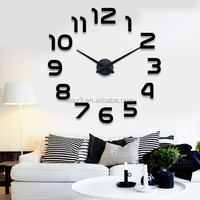 orginal brand Modern Home Self Adhesive DIY 3D Wall Clock