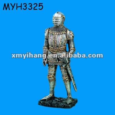 polyresin Medieval Knight Armor figurine statue sculpture