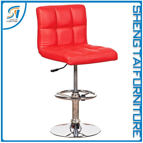 High end durable soft seat high bar stool with footrest base