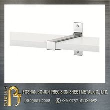 Decorative metal shelves bracket mounted on the wall