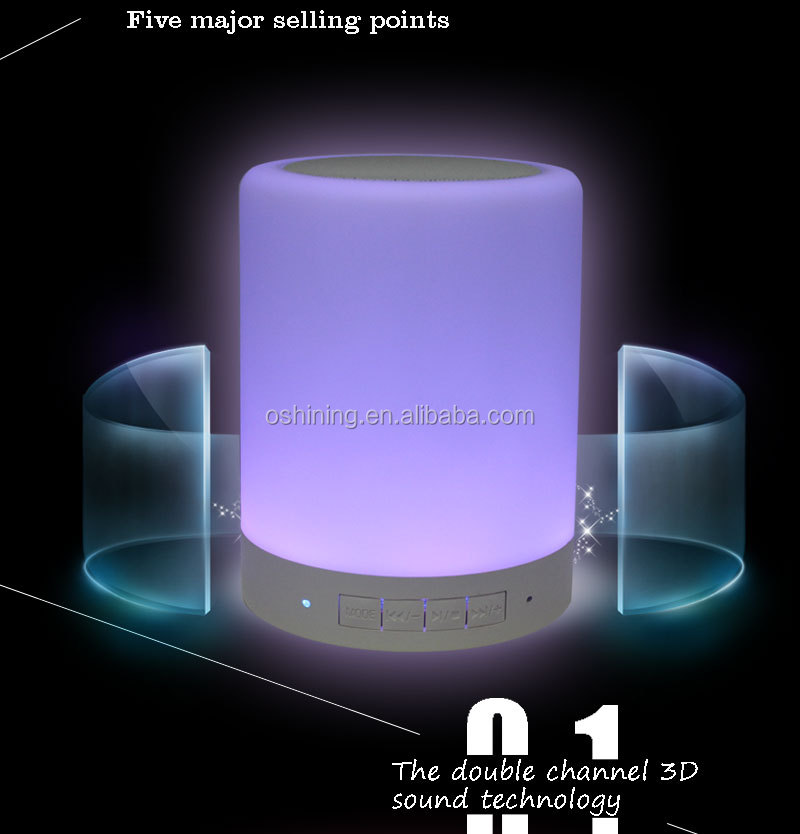2019 Night Light Rechargeable Portable Mini Wireless Speaker Lamp