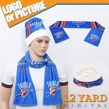 Knitting custom printing fan basketball scarf for cheering basketball club gifts