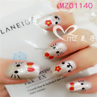 Born Pretty 1 Sheet Embossed 3D Nail Stickers Blooming Flower Nail Art Stickers