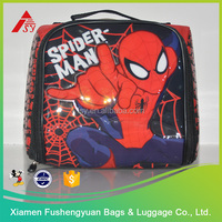 high quality spider-man kid school lunch bag for boy