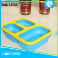 China made microwaveable FDA & LFGB silicon divided food container