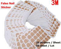 Best 3m Safe Sticky Tape for False Nail Tips Original 3M Double Side Adhesive Glue False Nail Transparent Sticker