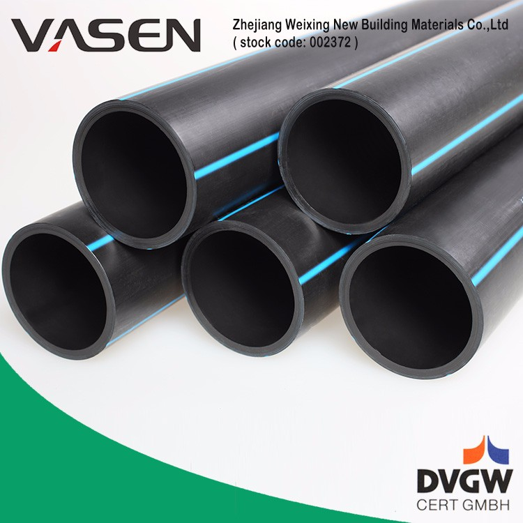 VASEN For Hot And Cold Water PE100 black plastic water pipe roll