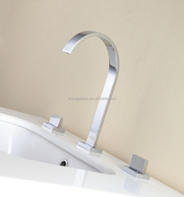 Chrome Brass Dual Handle Basin Water Faucets