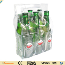 custom Portable Gel ice 6 packs wine bottle coolers beer cooler bag