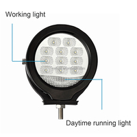5 inch Round LED work light forklift safety warning Driving lamp headlight DC 10-80V
