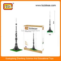 LOZ Ostankino Tower miniature architecture models