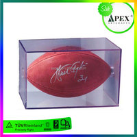 hot sale cheap wholesale soccer ball helmet case acrylic soccer ball display case for sports shop high quality